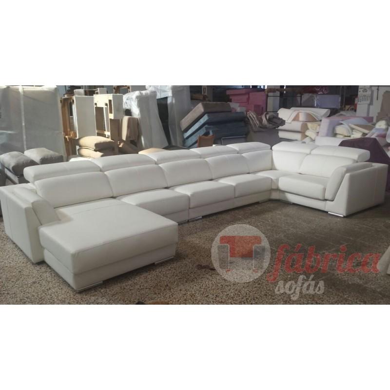 Rinconera lucca piel fabrica sofas for Sofa rinconera piel