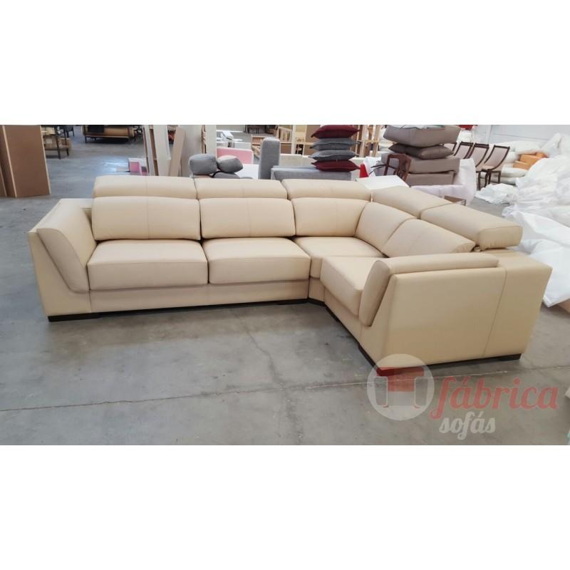 Rinconera lucca piel fabrica sofas for Sofas piel valencia