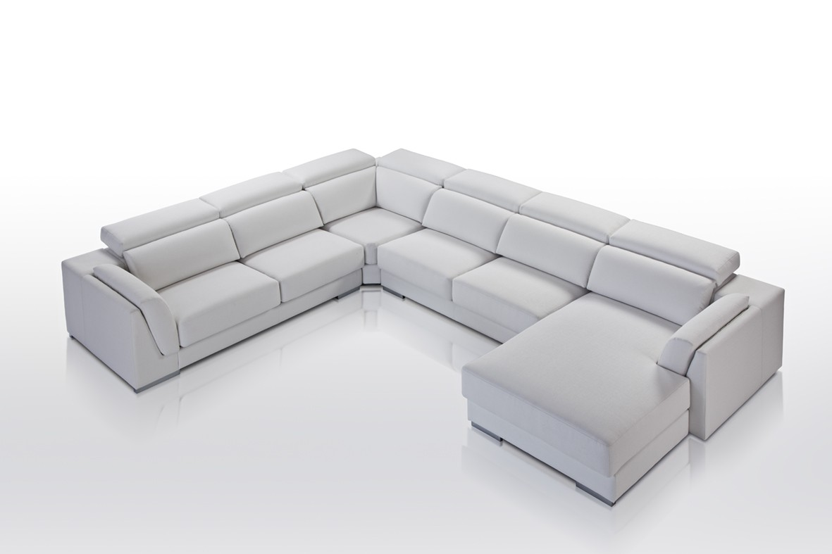 Sofa cama rinconera chaise longue for Sofas de piel con cheslong